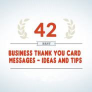 42 Best Business Thank You Card Messages – Tips and Ideas