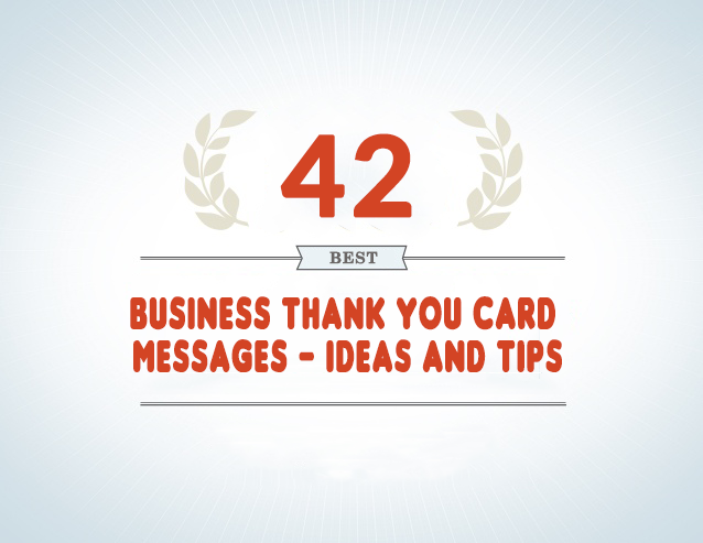 42 Best Business Thank You Card Messages Samples Tips And Ideas